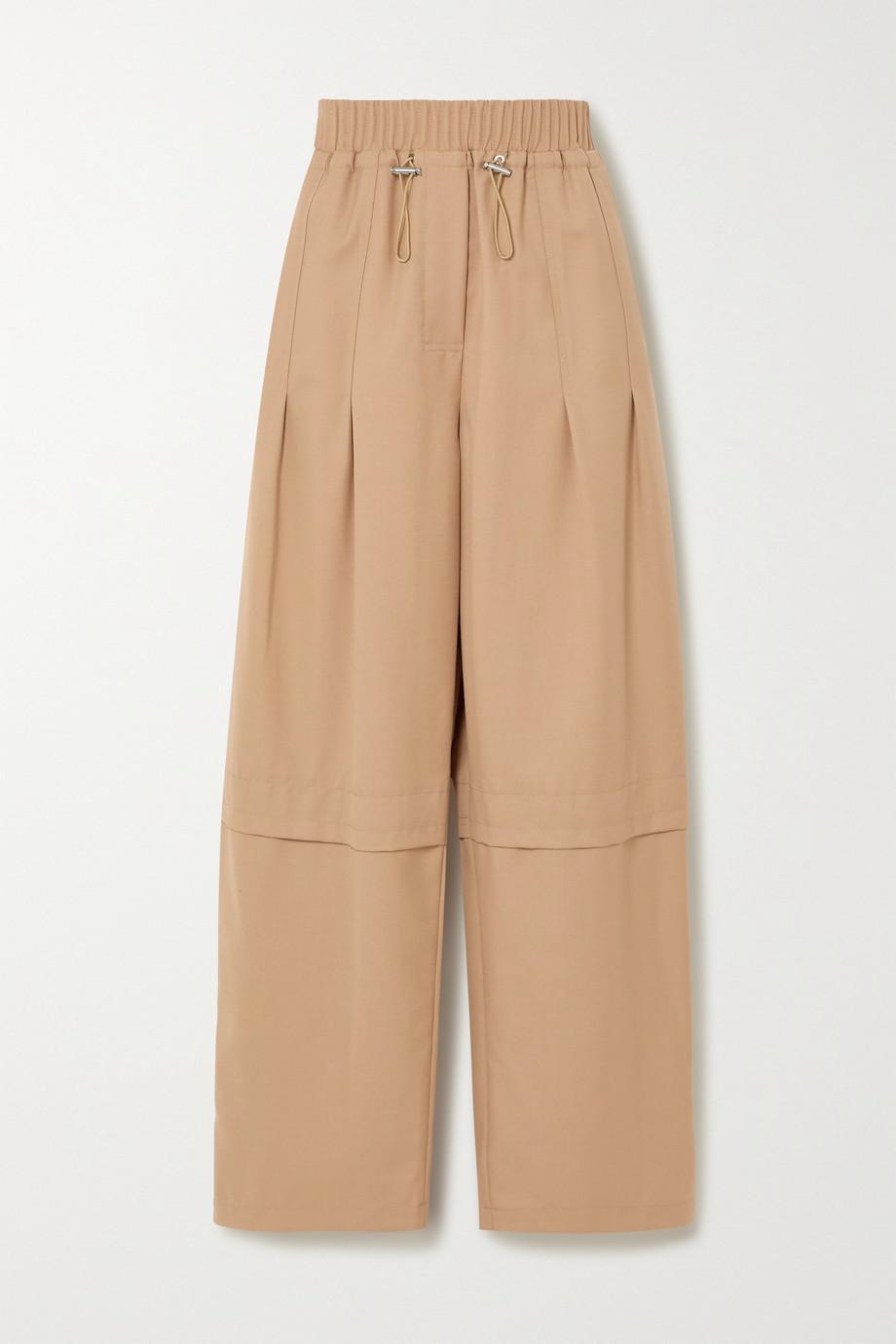 3.1 Phillip Lim Serge 羊毛混纺斜纹布直筒裤