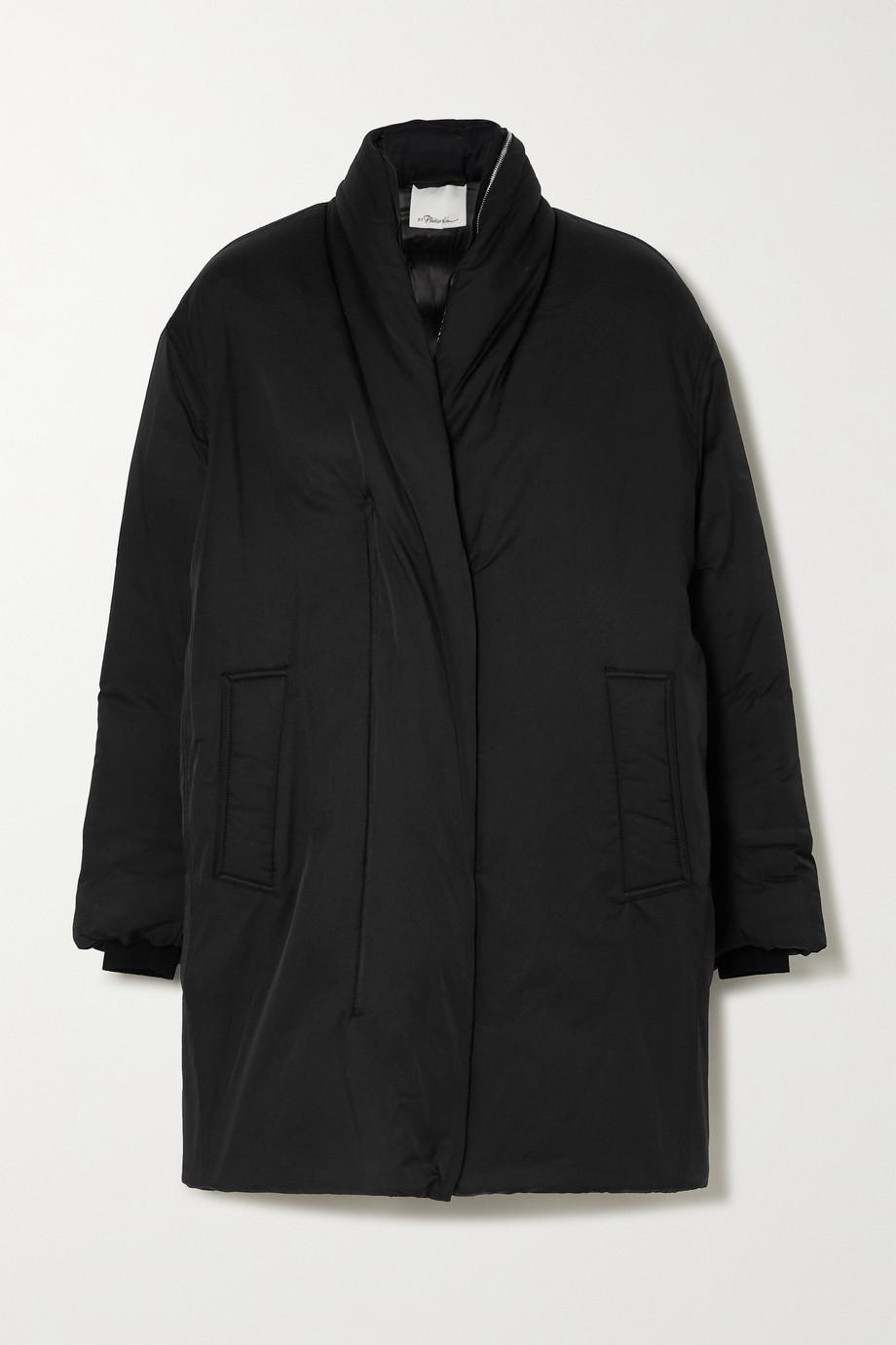 3.1 Phillip Lim 连帽大廓形带填充物棉质混纺软壳面料外套
