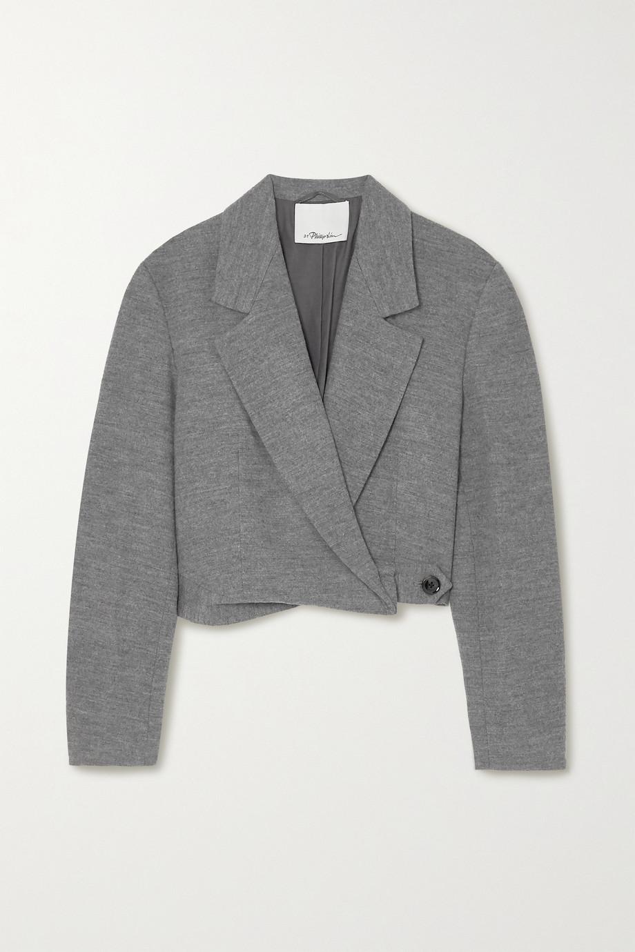 3.1 Phillip Lim 混色羊毛短款西装外套