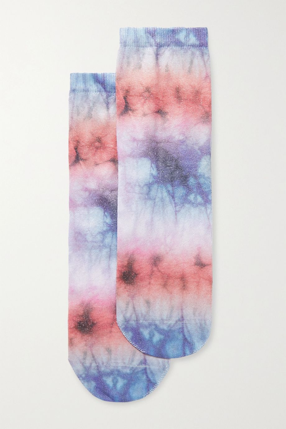 Maria La Rosa Tie-dyed silk-blend socks