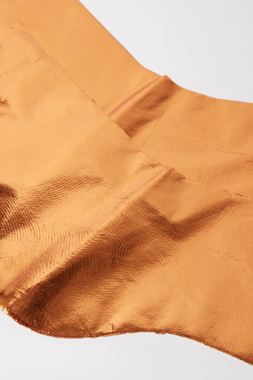 Maria La Rosa Metallic coated silk-blend socks