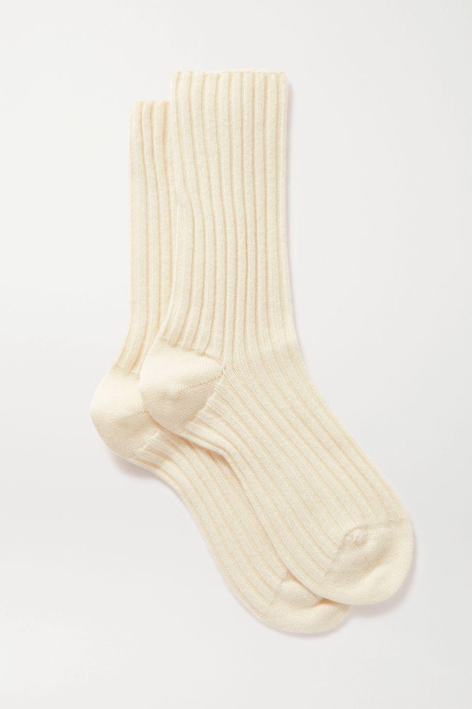 Maria La Rosa 罗纹羊绒袜