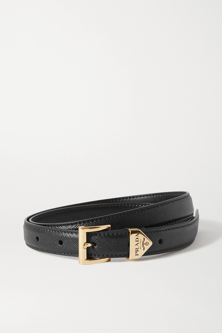 Prada Textured-leather belt