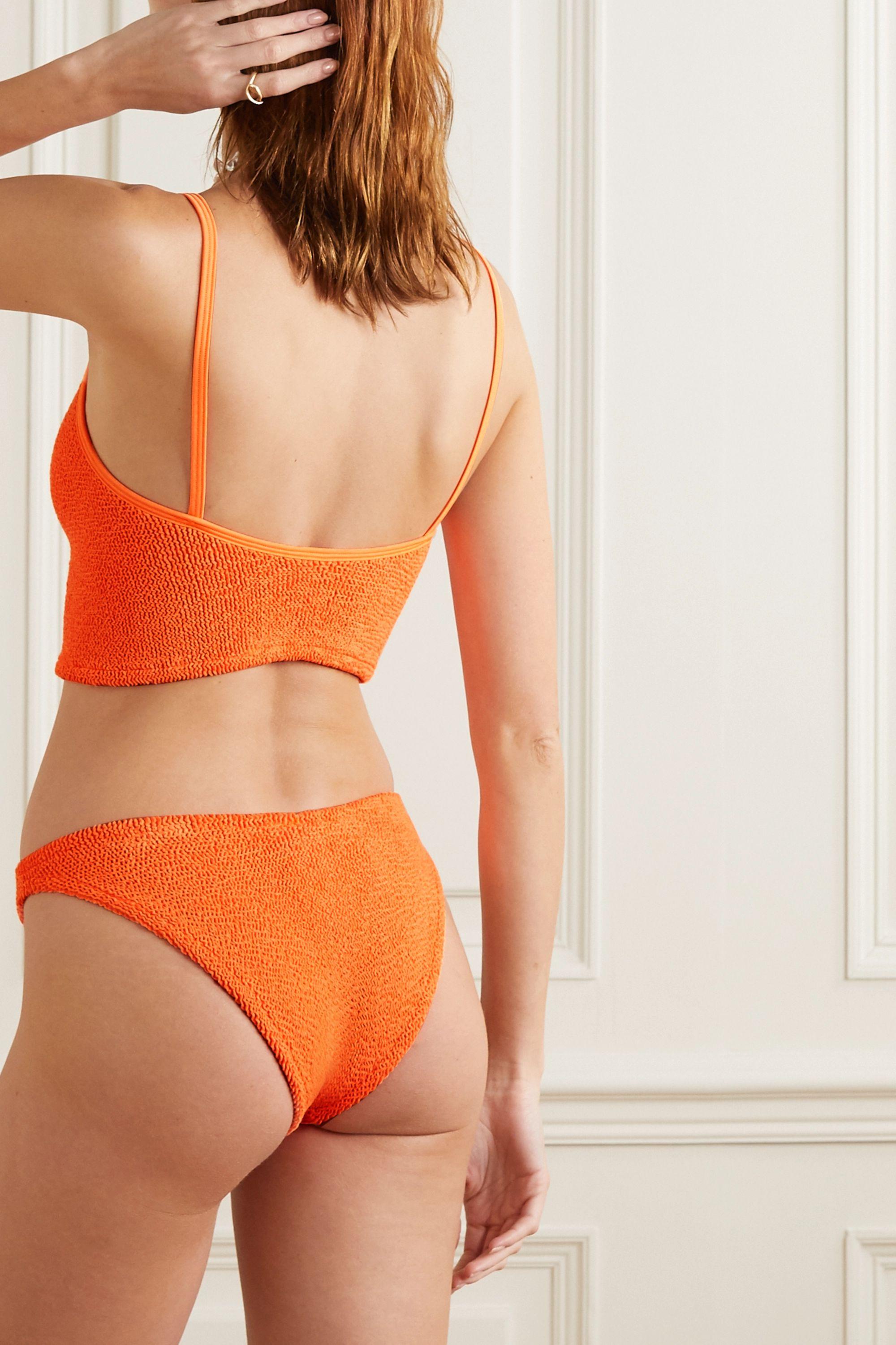 Hunza G Strap seersucker bikini