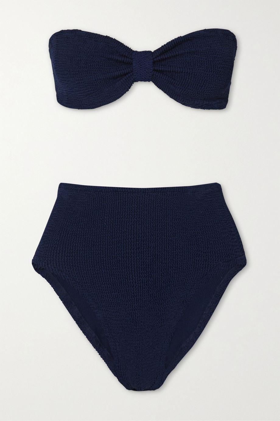 Hunza G Posey seersucker bandeau bikini