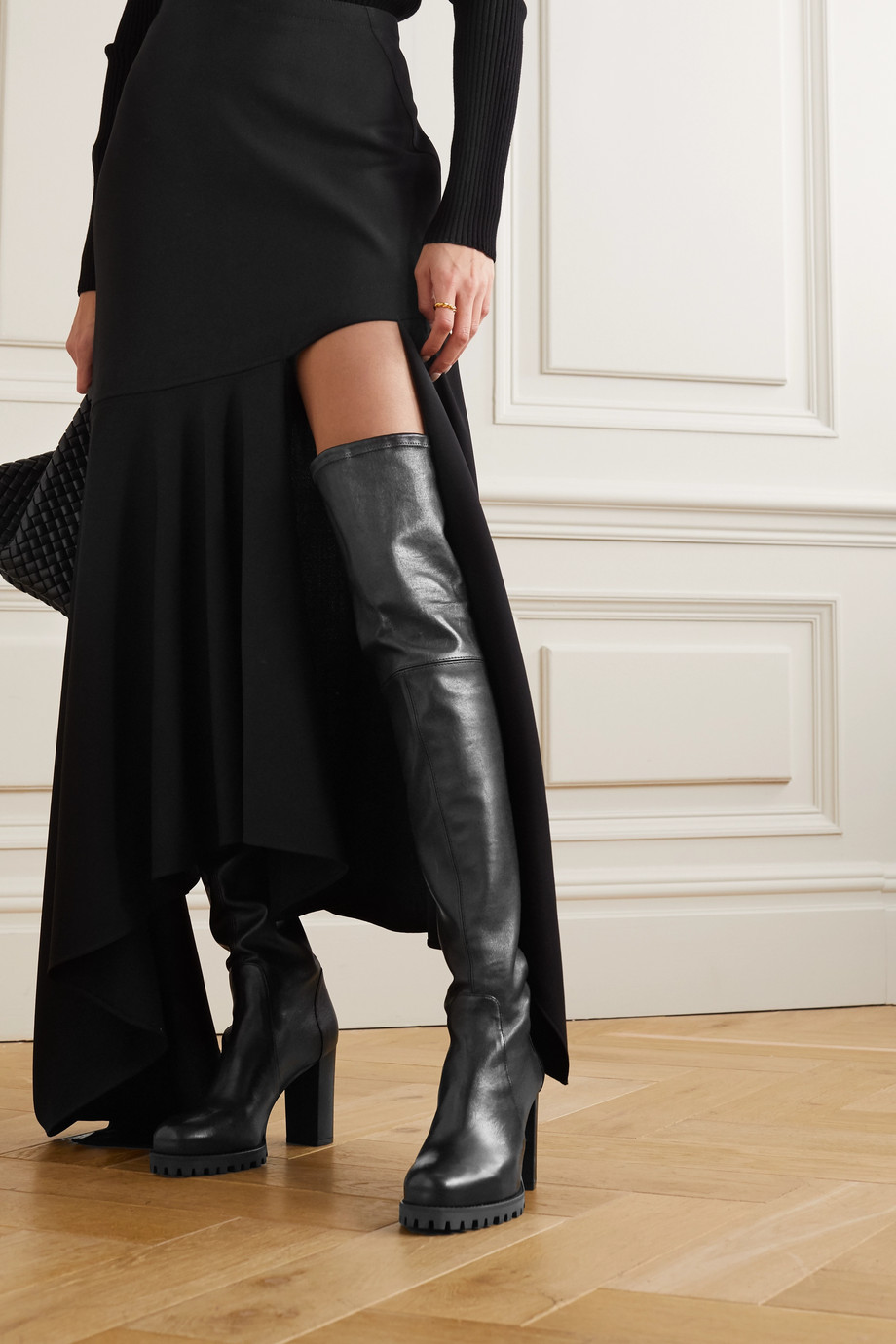 Stuart Weitzman Zoella leather over-the-knee boots