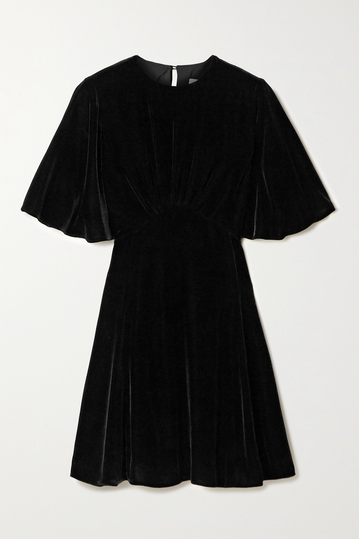 Les Rêveries Gathered velvet mini dress