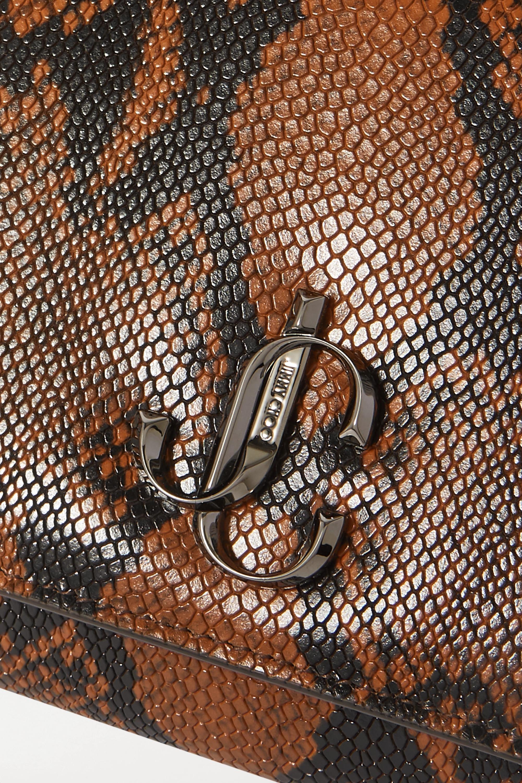Jimmy Choo Pochette en cuir effet serpent Varenne