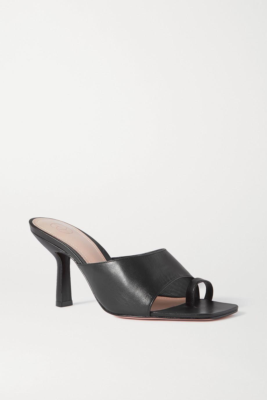 Porte & Paire Leather mules