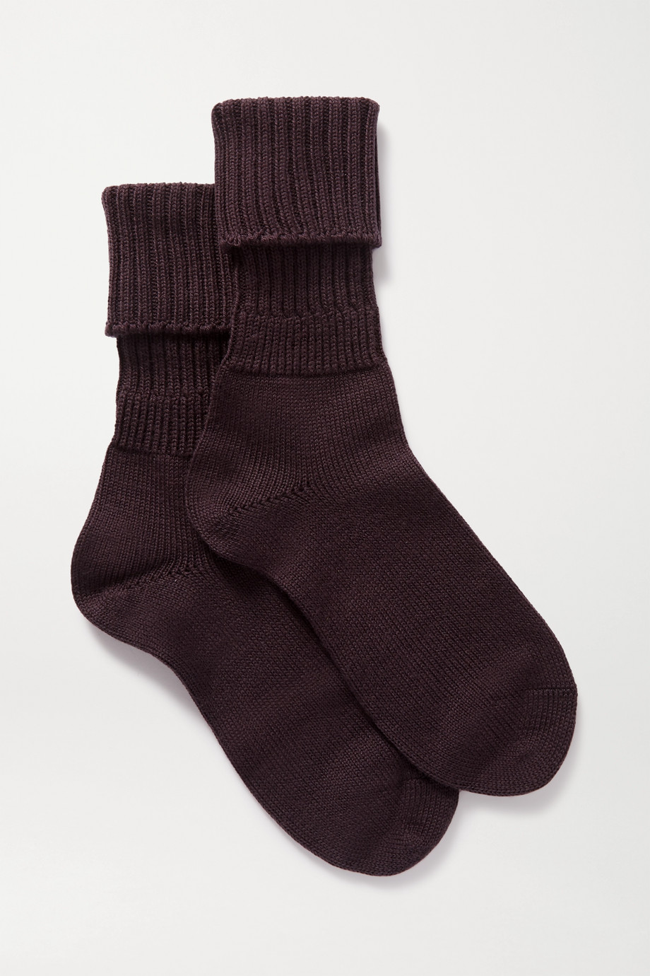 FALKE Ribbed wool-blend socks