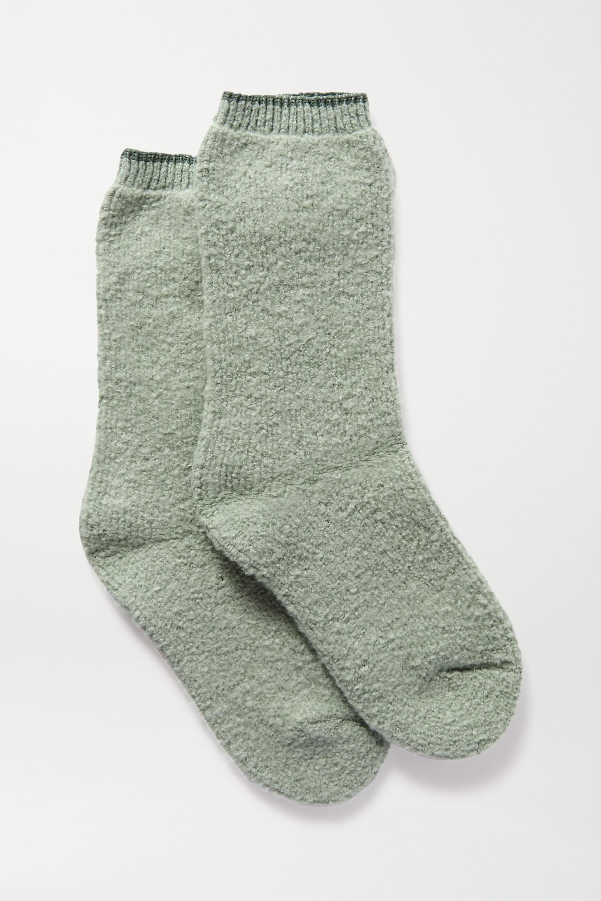FALKE Plush Touch reversible cotton-blend socks