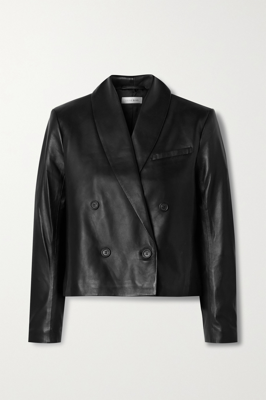 Anine Bing Mae double-breasted leather blazer