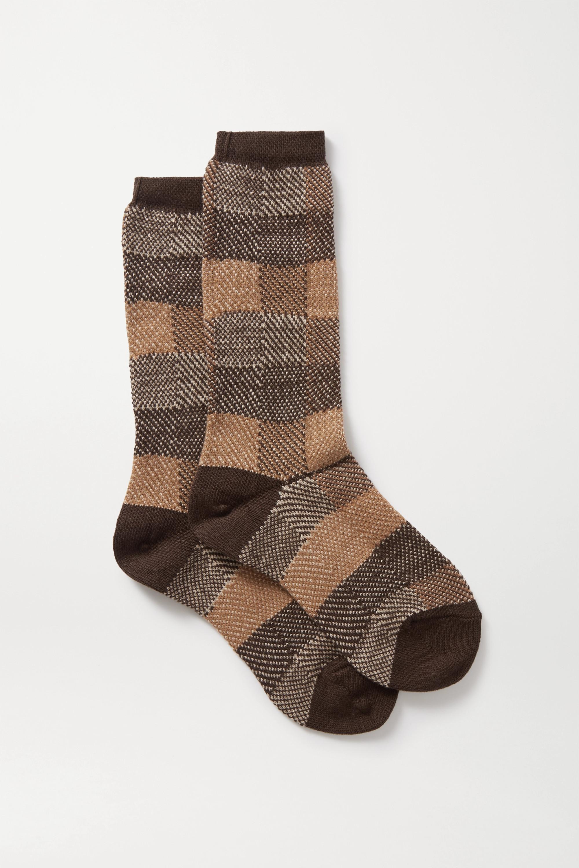 FALKE Checked jacquard-knit socks