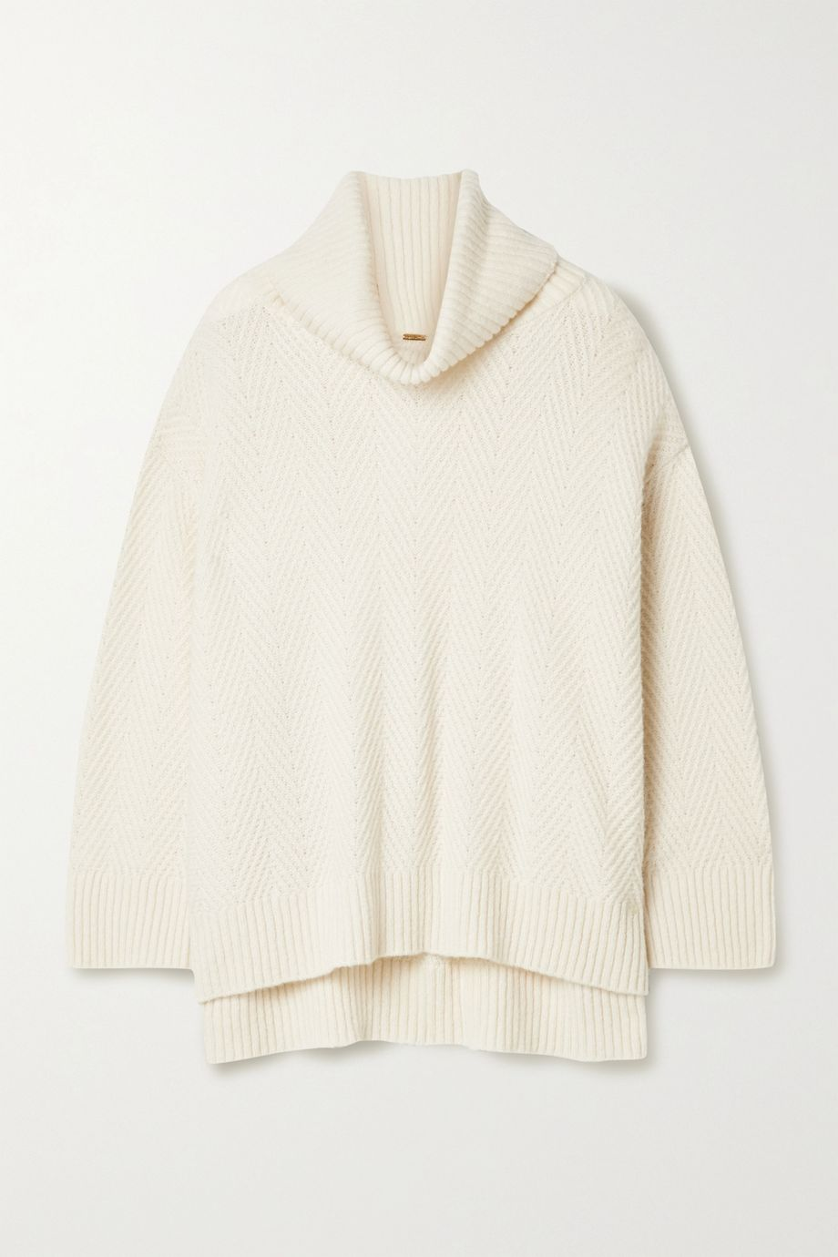 Adam Lippes Cashmere and silk-blend turtleneck sweater