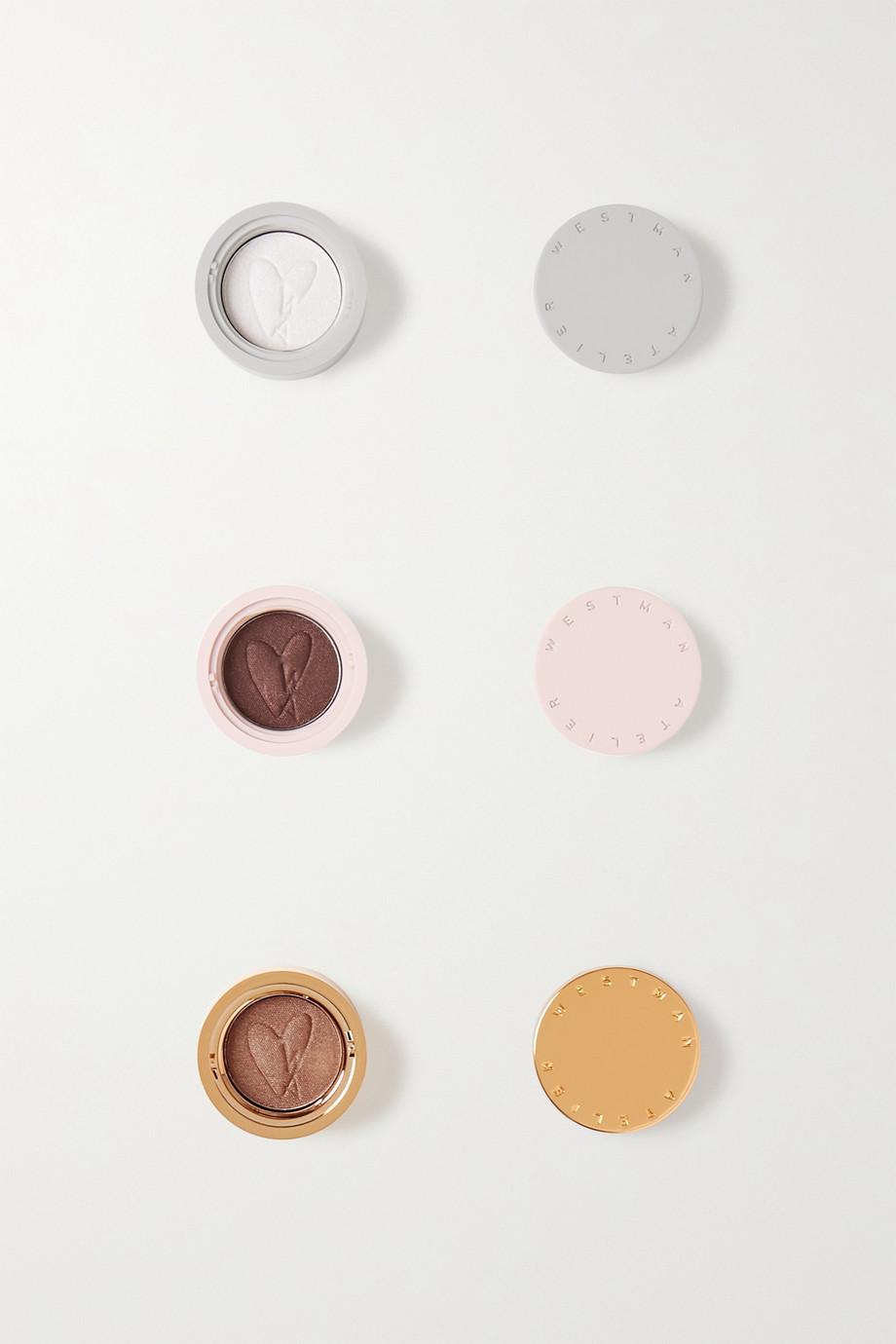 Westman Atelier Eye Pods – Neige, Chocolat, Tabac – Set aus drei Lidschatten