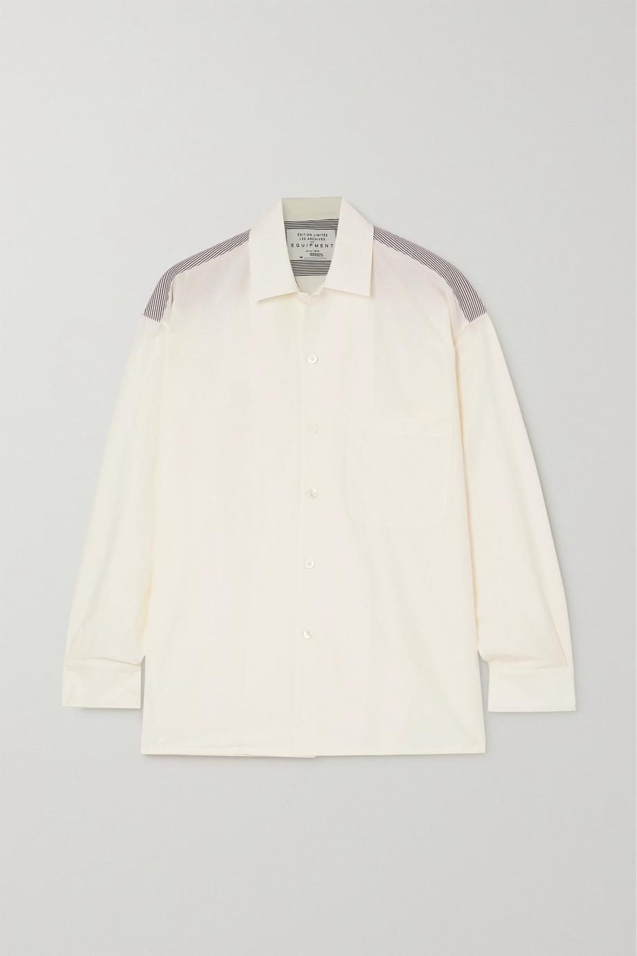 EQUIPMENT Archive 6 条纹纯棉府绸棉丝混纺衬衫