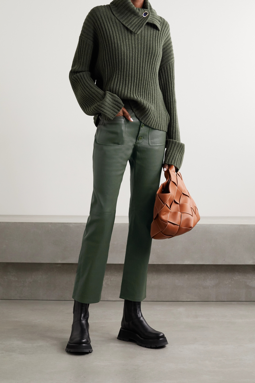 APIECE APART Marston leather straight-leg pants
