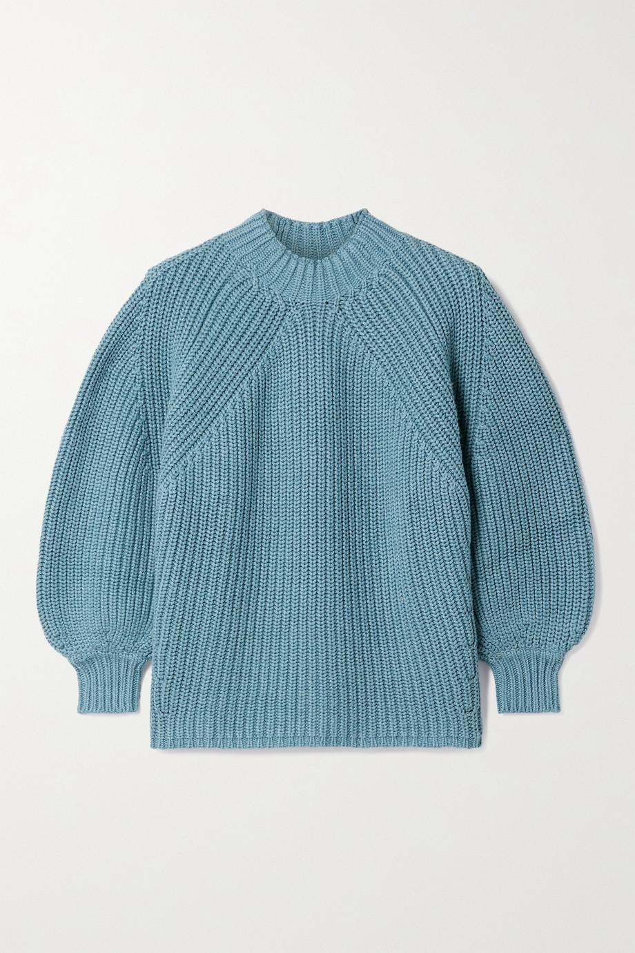APIECE APART Nueva Merel Pullover aus einer gerippten Baumwoll-Kaschmirmischung
