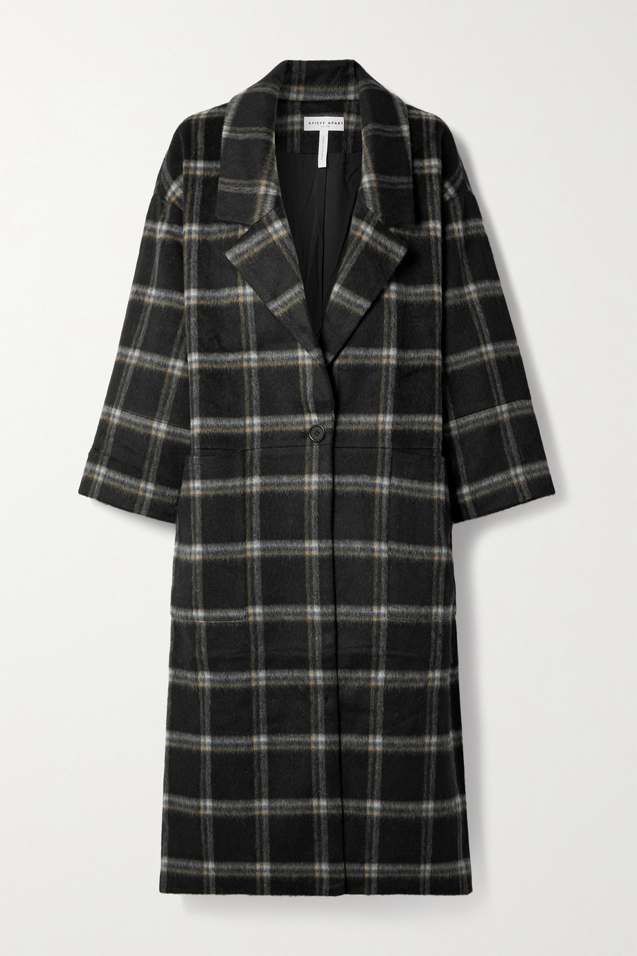 APIECE APART Vita oversized checked brushed wool-blend coat