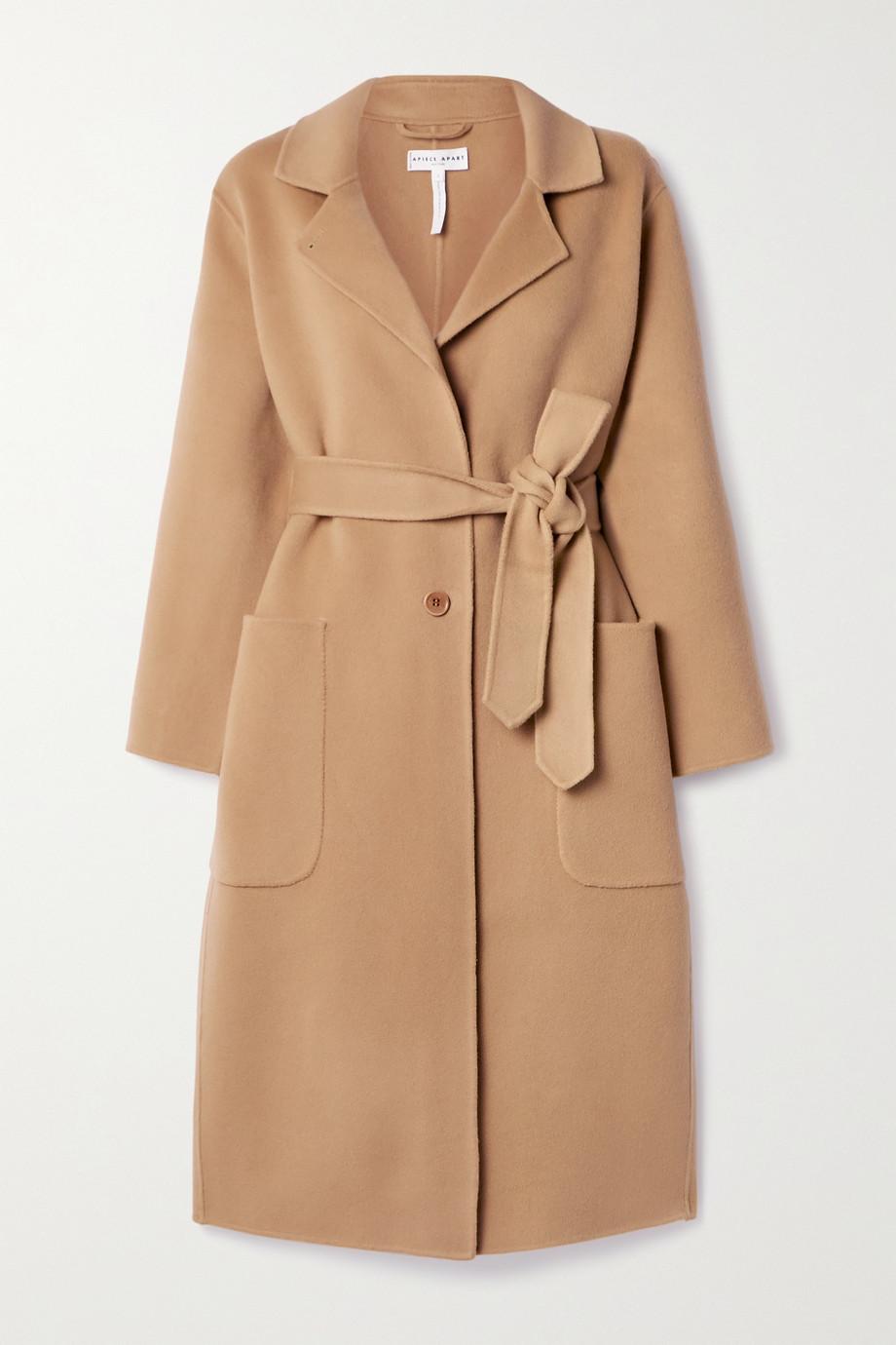 APIECE APART Manteau en feutre de laine à ceinture Arhus