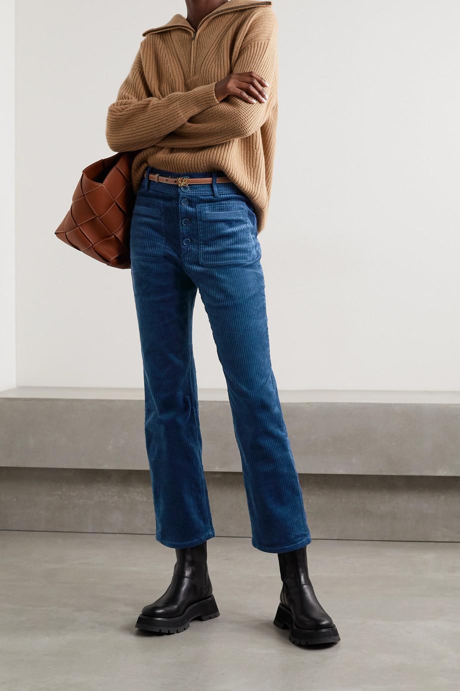 APIECE APART Marston Hose mit geradem Bein aus Cord aus einer Baumwollmischung