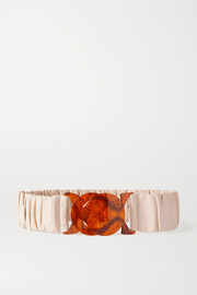 Black & Brown + NET SUSTAIN Jessica ruched leather waist belt