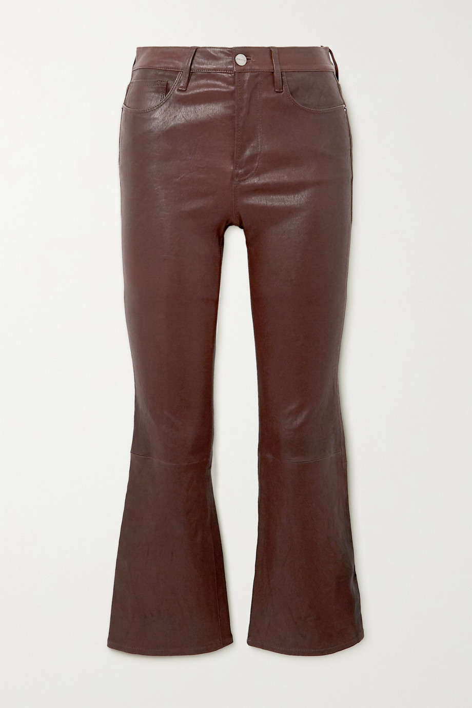 FRAME Le Crop Mini Boot leather flared pants