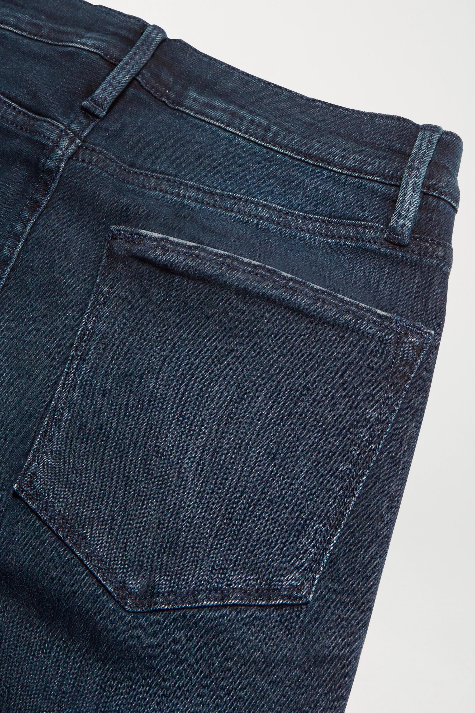 FRAME Le High frayed straight-leg jeans