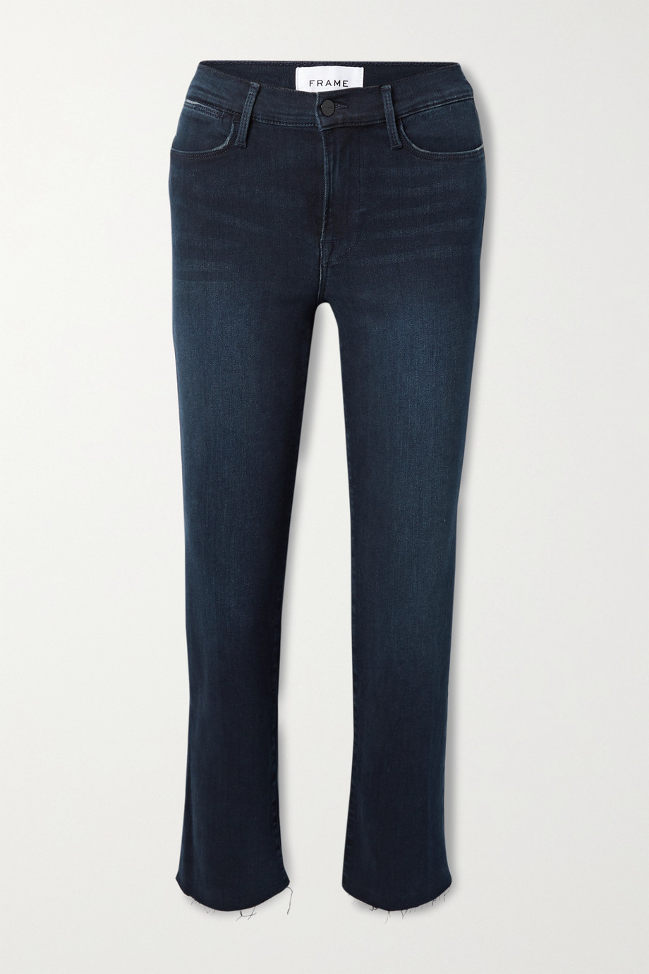 FRAME Le High frayed straight-leg jeans