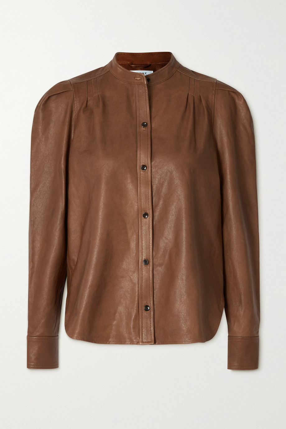 FRAME Charlie leather shirt