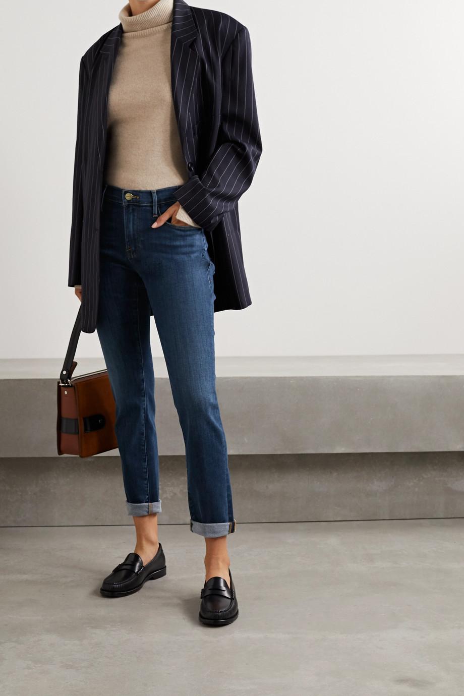 FRAME Le Garcon cropped slim boyfriend jeans