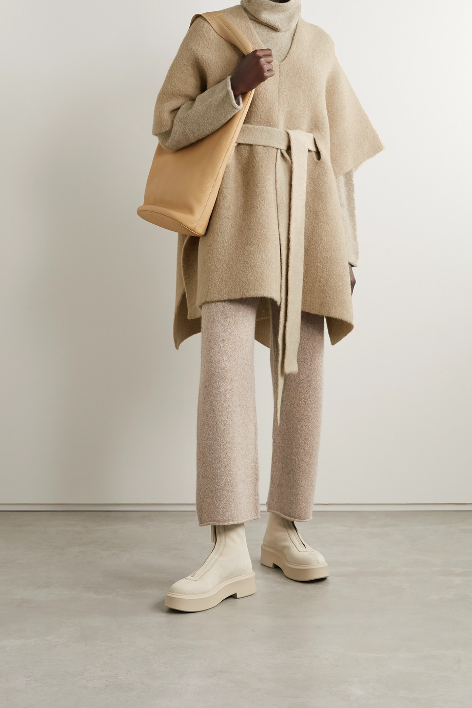 Lauren Manoogian Tabard belted knitted poncho