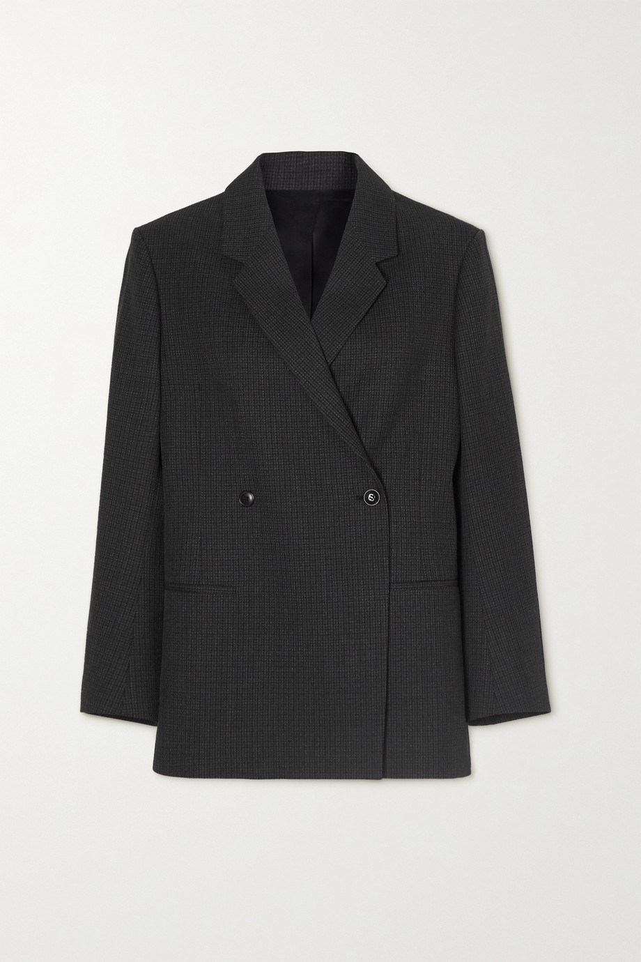 Totême Loreo double-breasted checked wool-tweed blazer