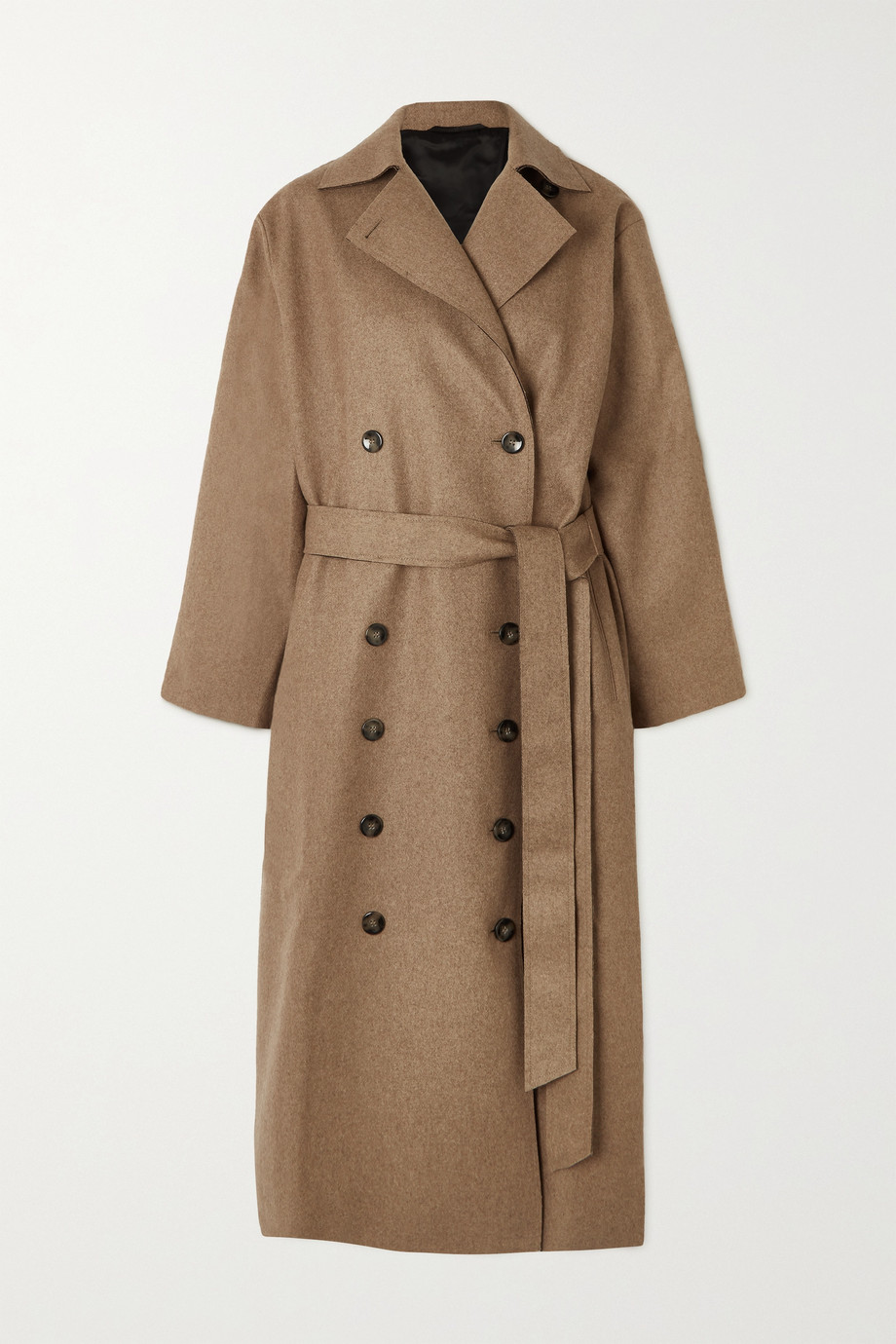 Totême Terlago oversized belted wool-blend coat