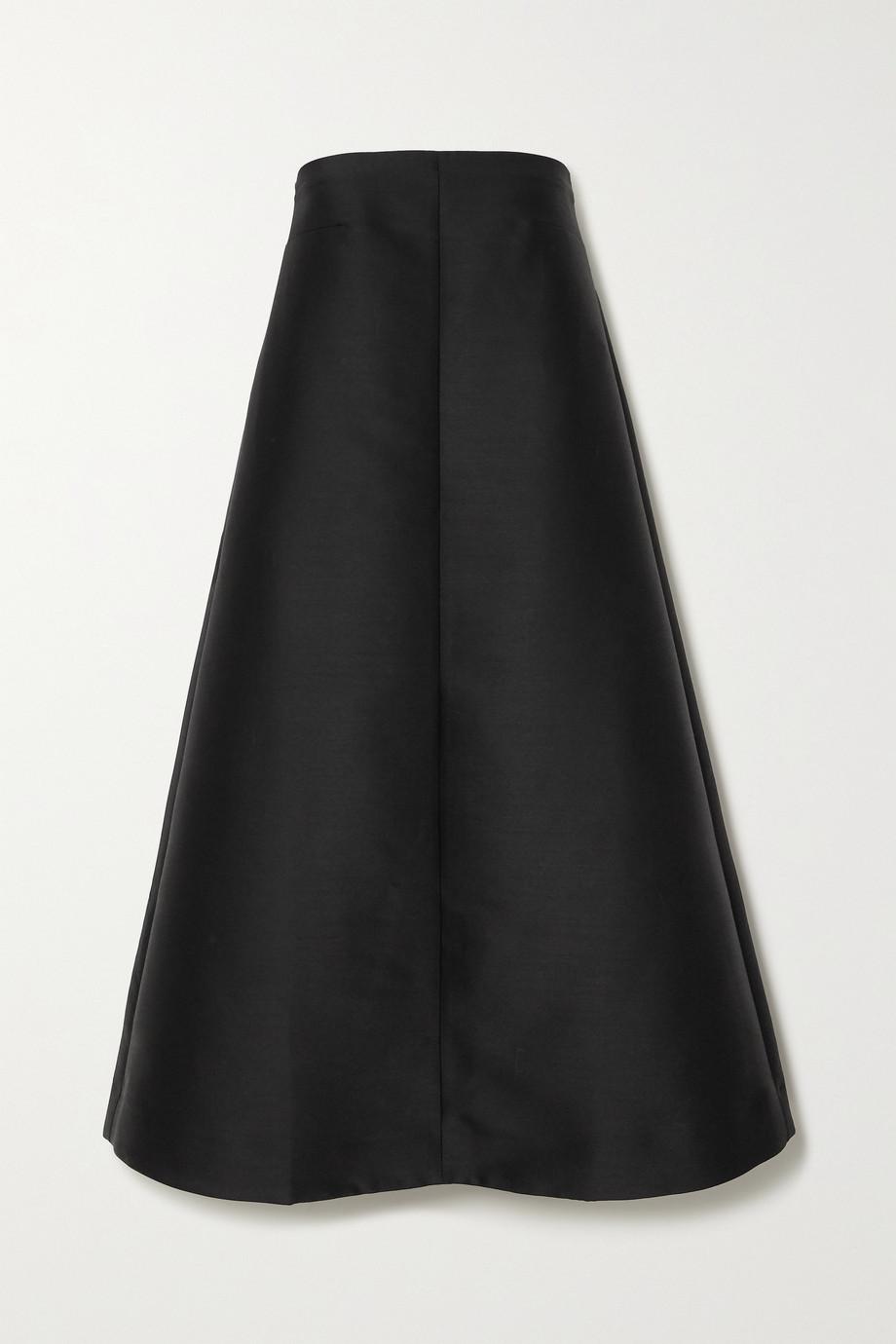 Totême Sabadell strapless duchesse-satin midi dress