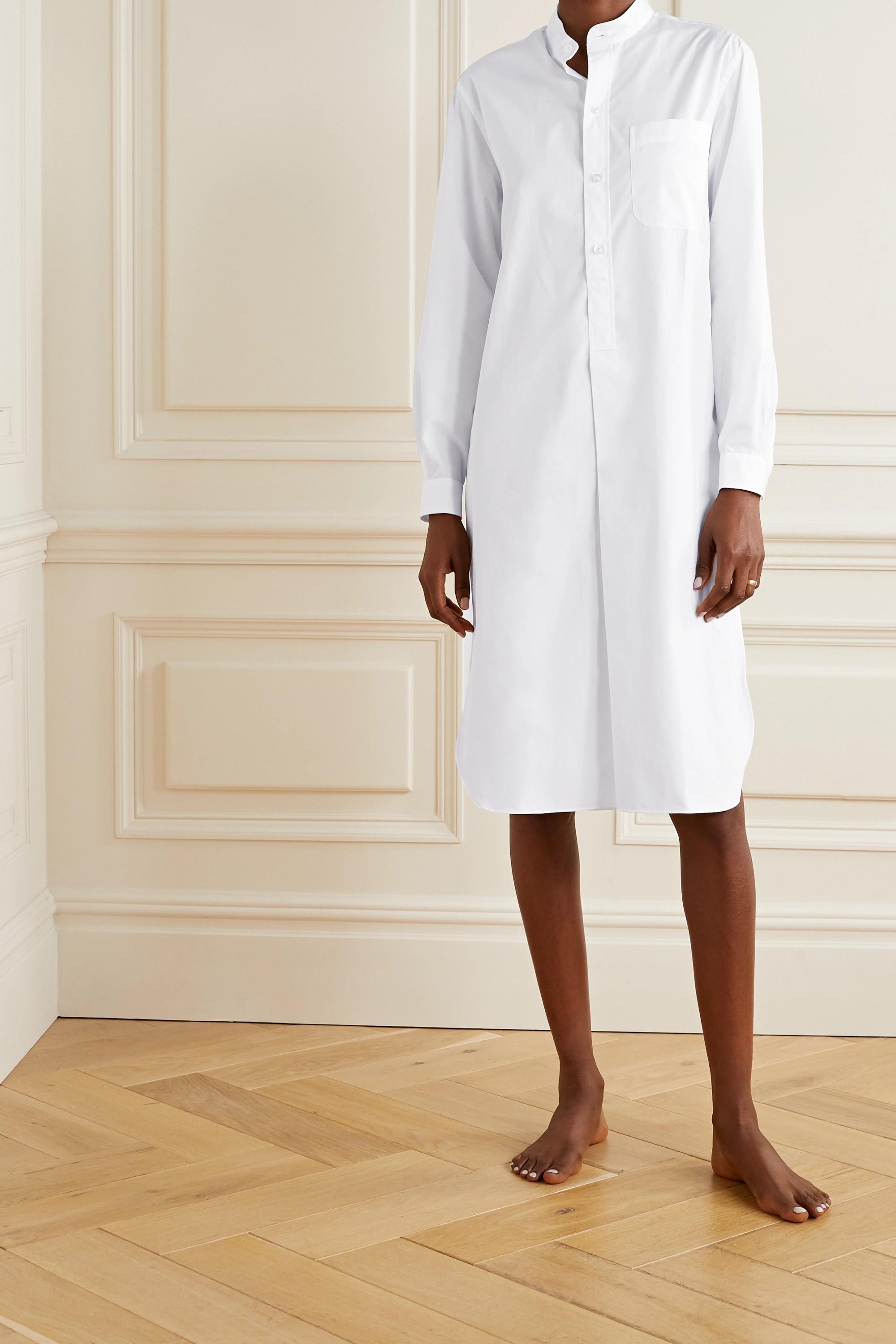 Charvet Elysee oversized cotton-poplin nightdress
