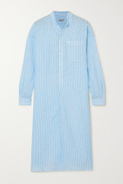 Charvet Elysee oversized striped cotton-poplin nightdress