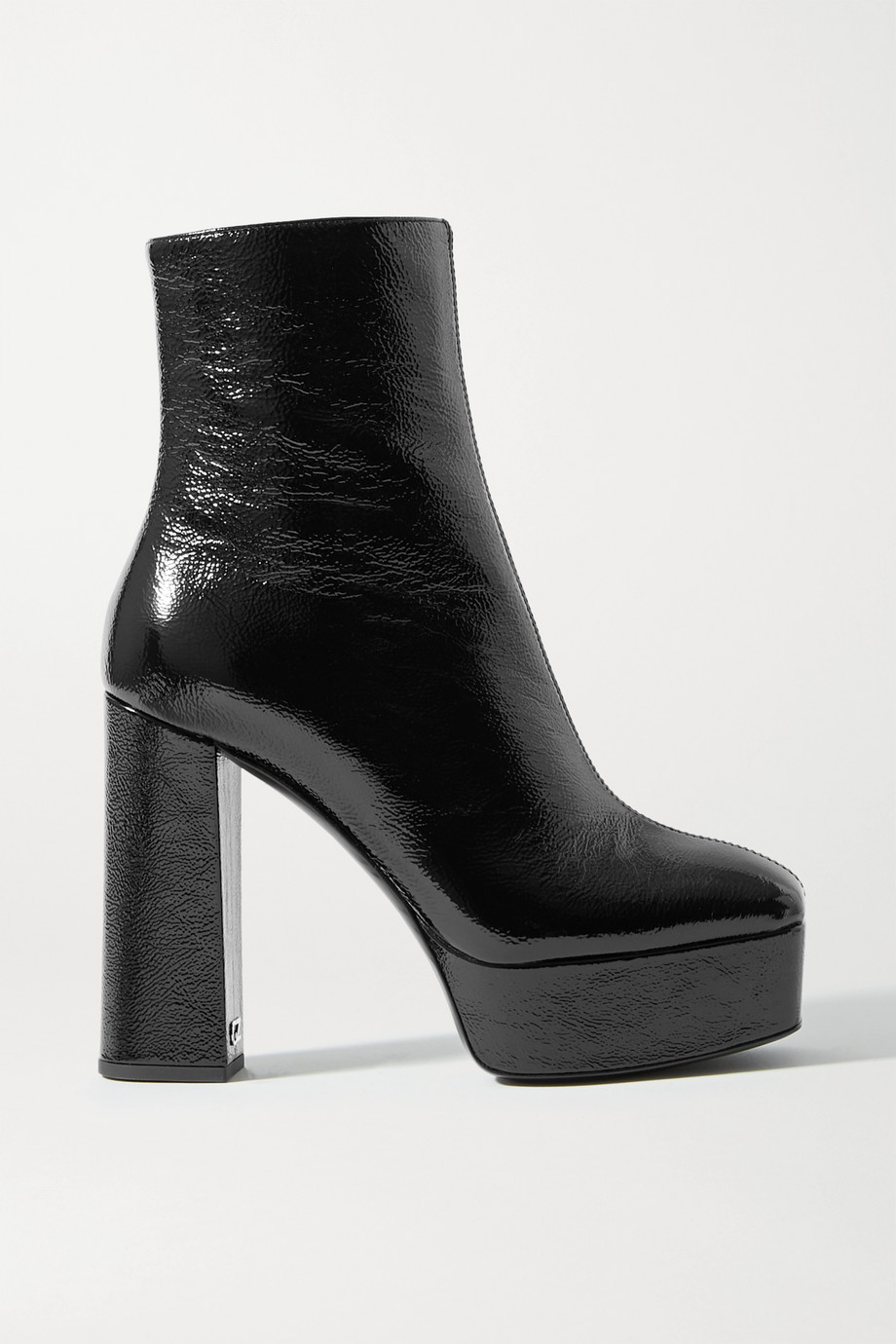 Giuseppe Zanotti Rullino crinkled patent-leather platform ankle boots