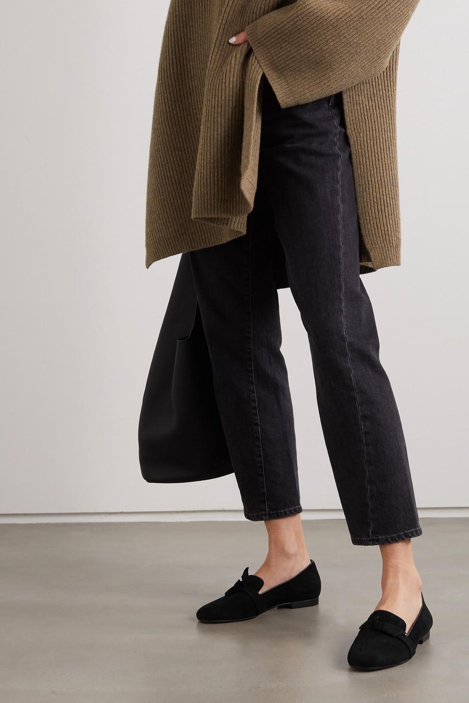 Alexandre Birman Clarita bow-embellished suede loafers
