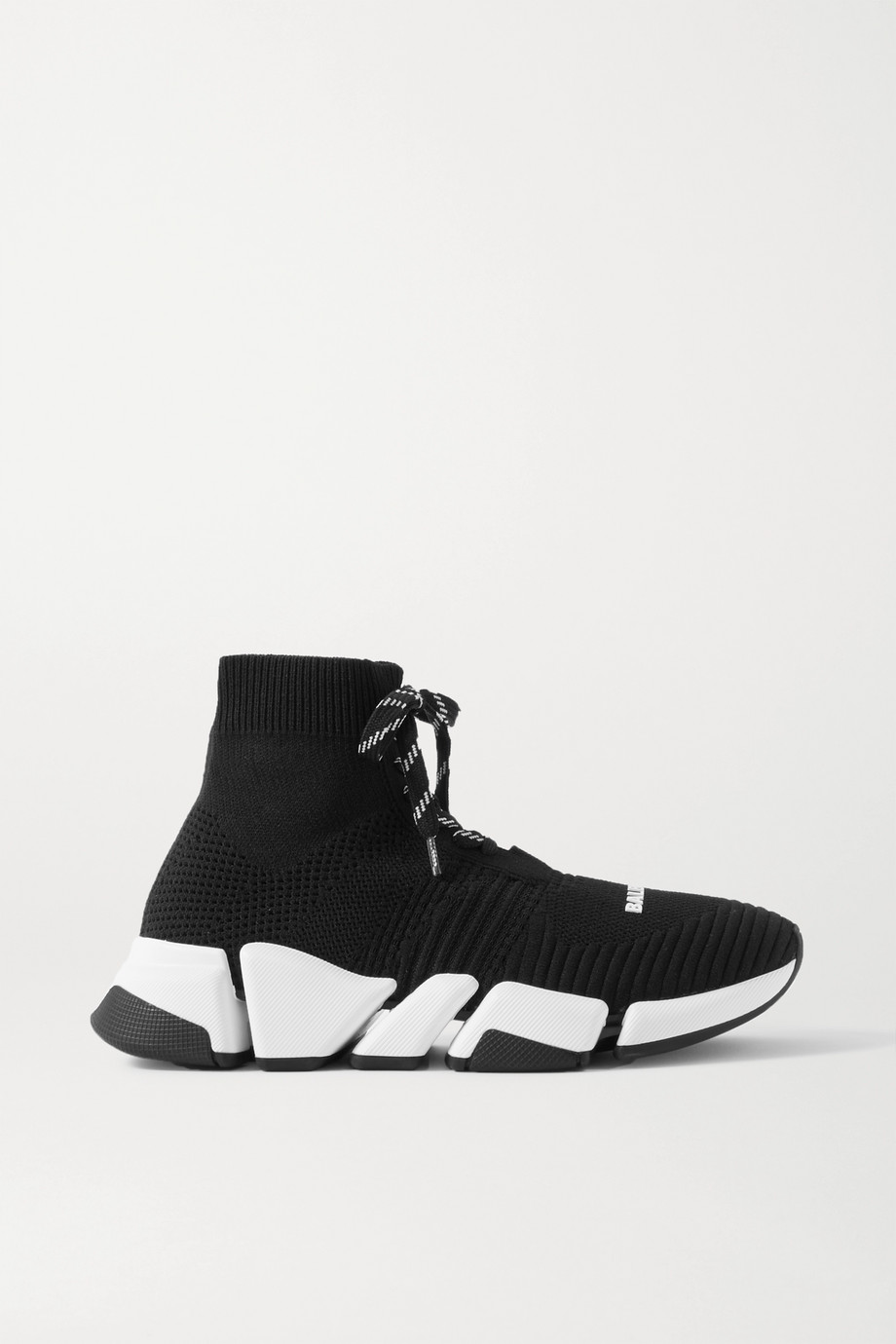 발렌시아가 스피드러너 2.0 여성용 -니트 블랙 Balenciaga Speed 2.0 stretch-knit high-top sneakers,Black