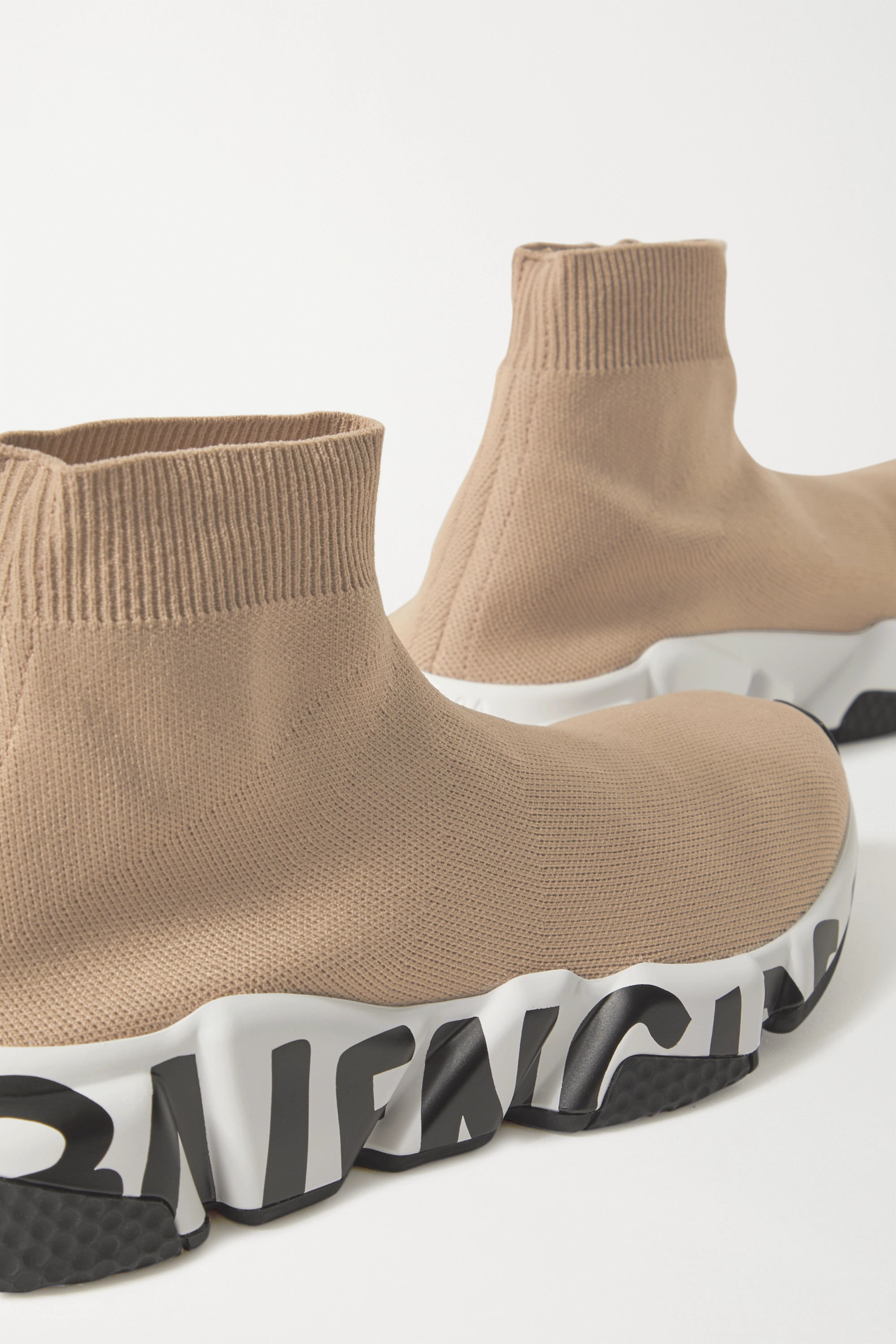 Balenciaga Speed logo-print stretch-knit high-top sneakers
