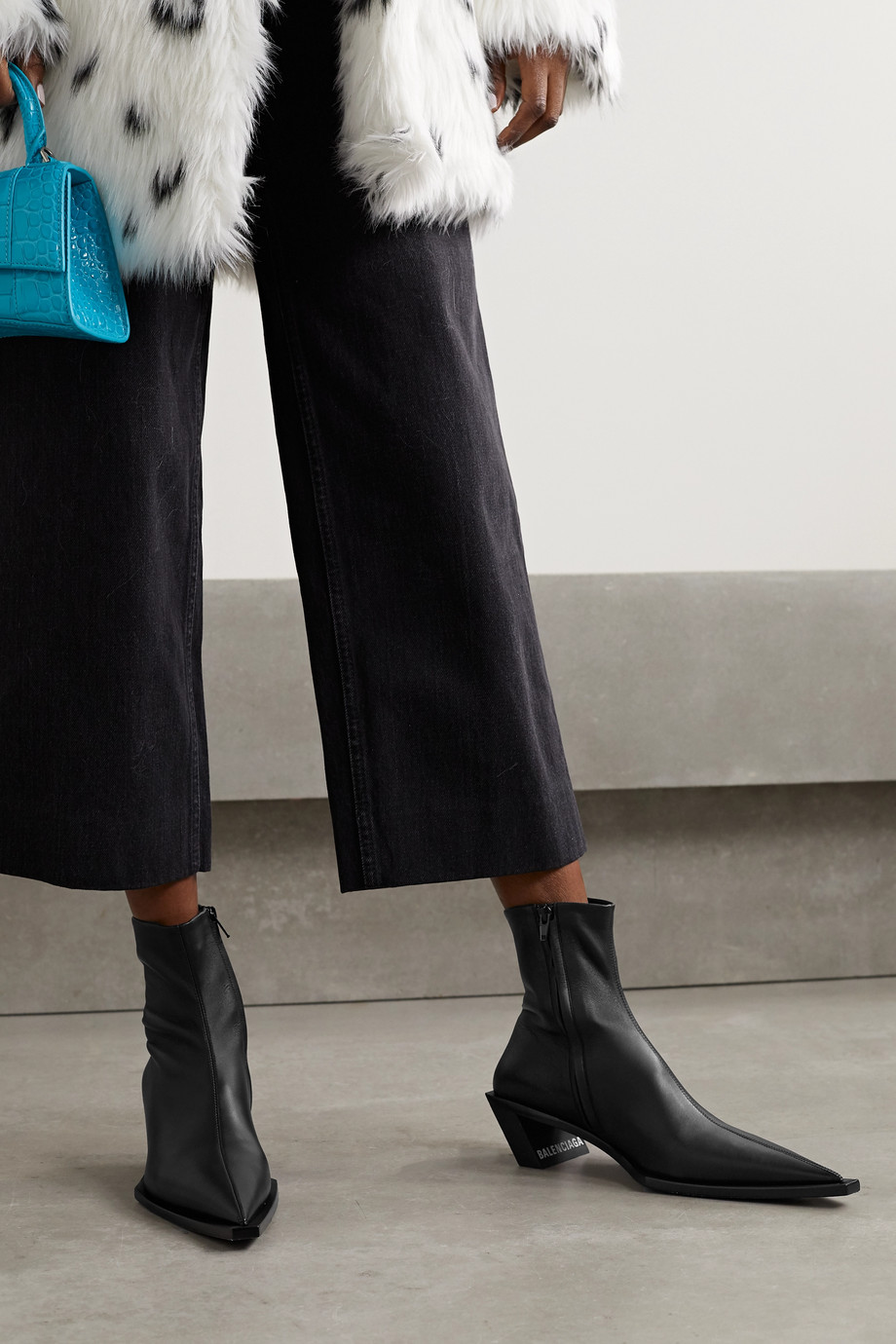Balenciaga Tiaga leather ankle boots