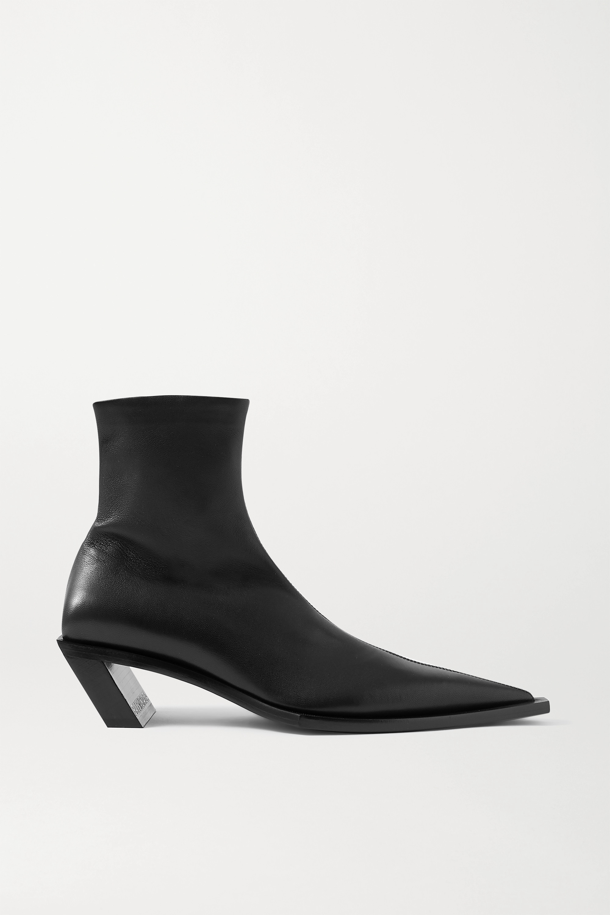 Black Tiaga leather ankle boots