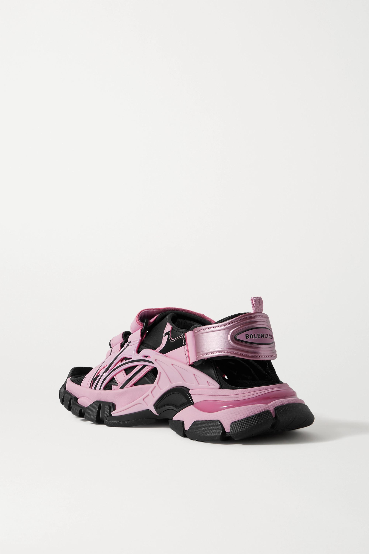 Balenciaga Sandales en cuir et en caoutchouc à logo Track
