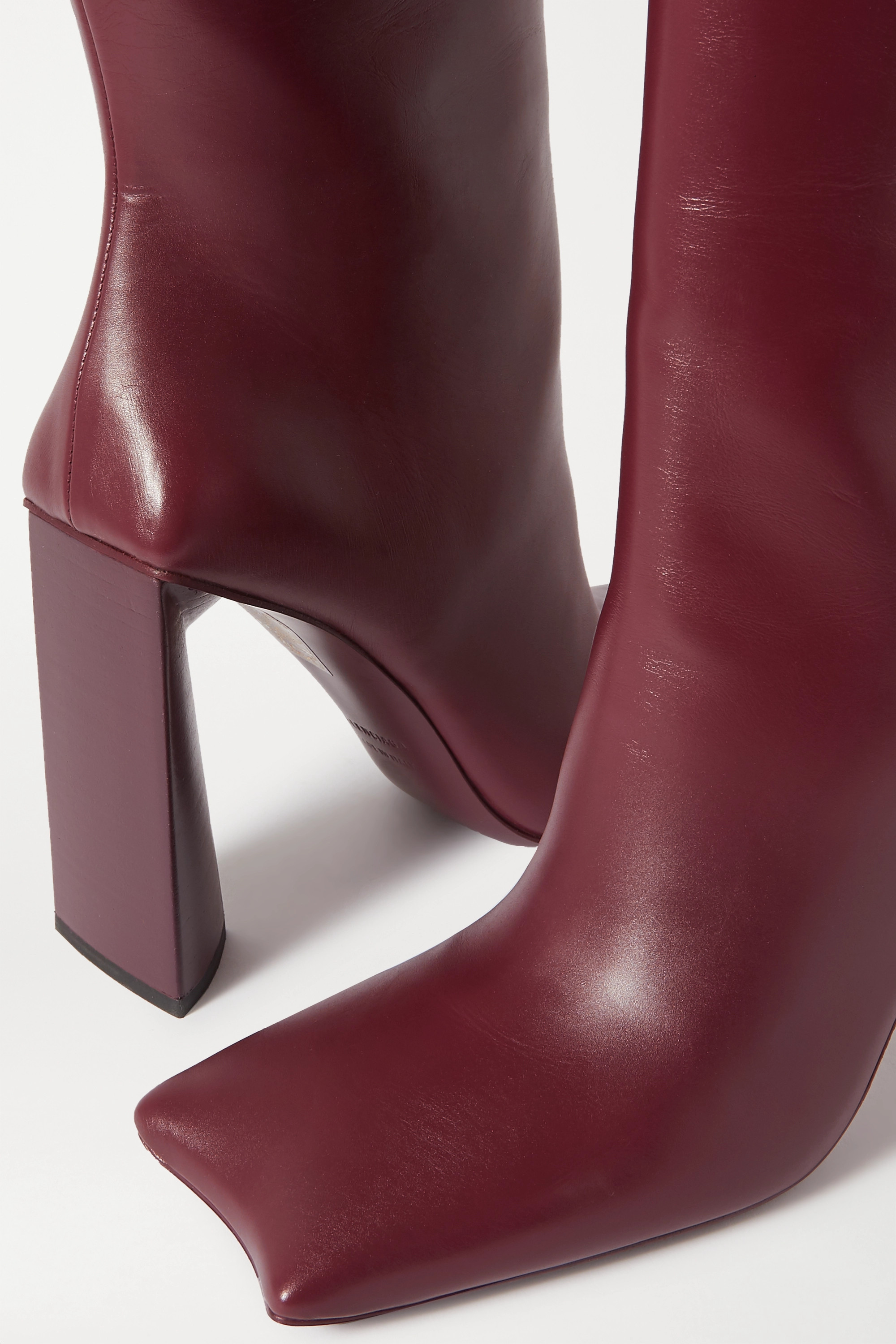 Burgundy Moon leather knee boots