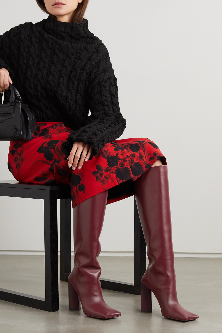 Balenciaga Moon leather knee boots