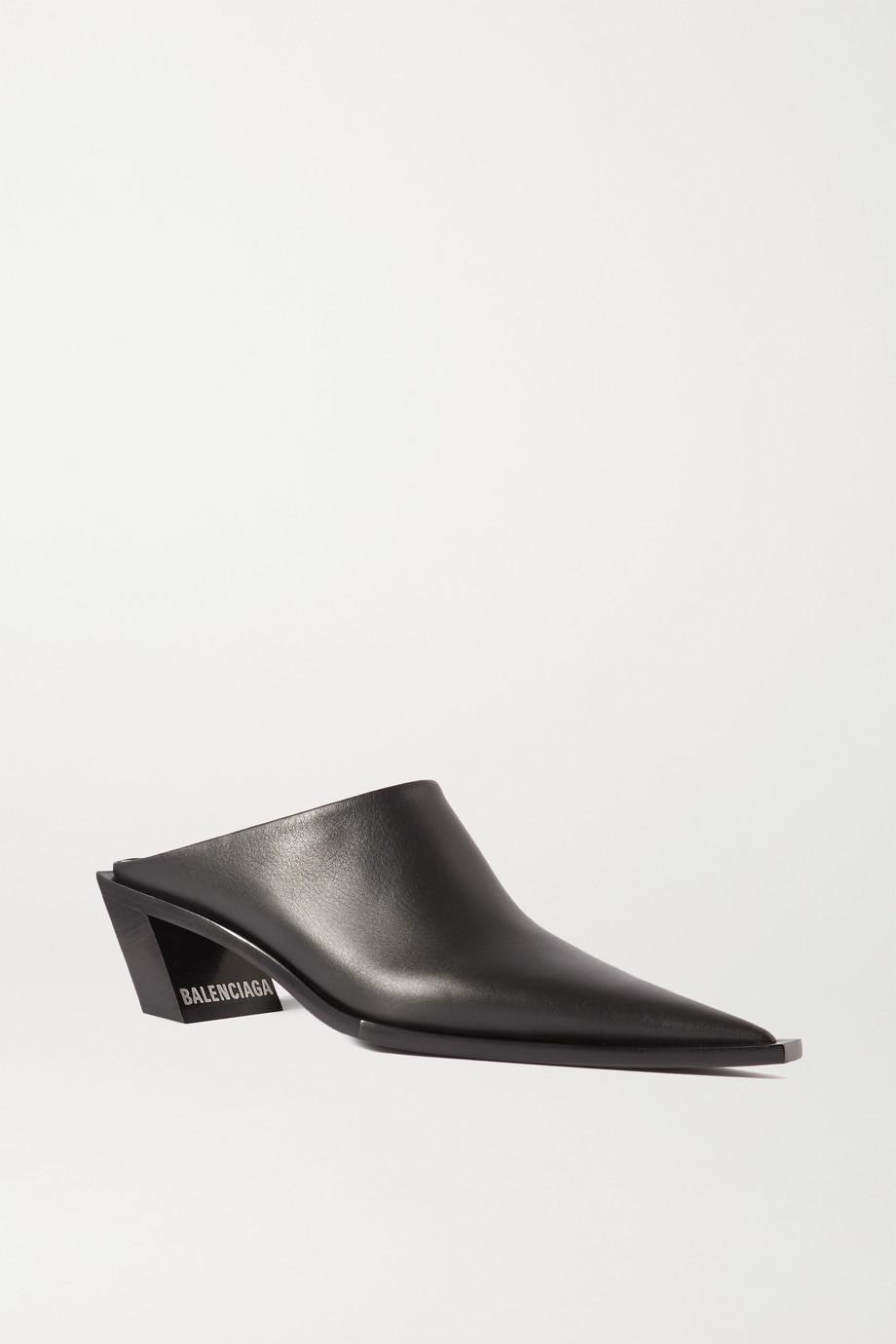 Balenciaga Mules aus Leder