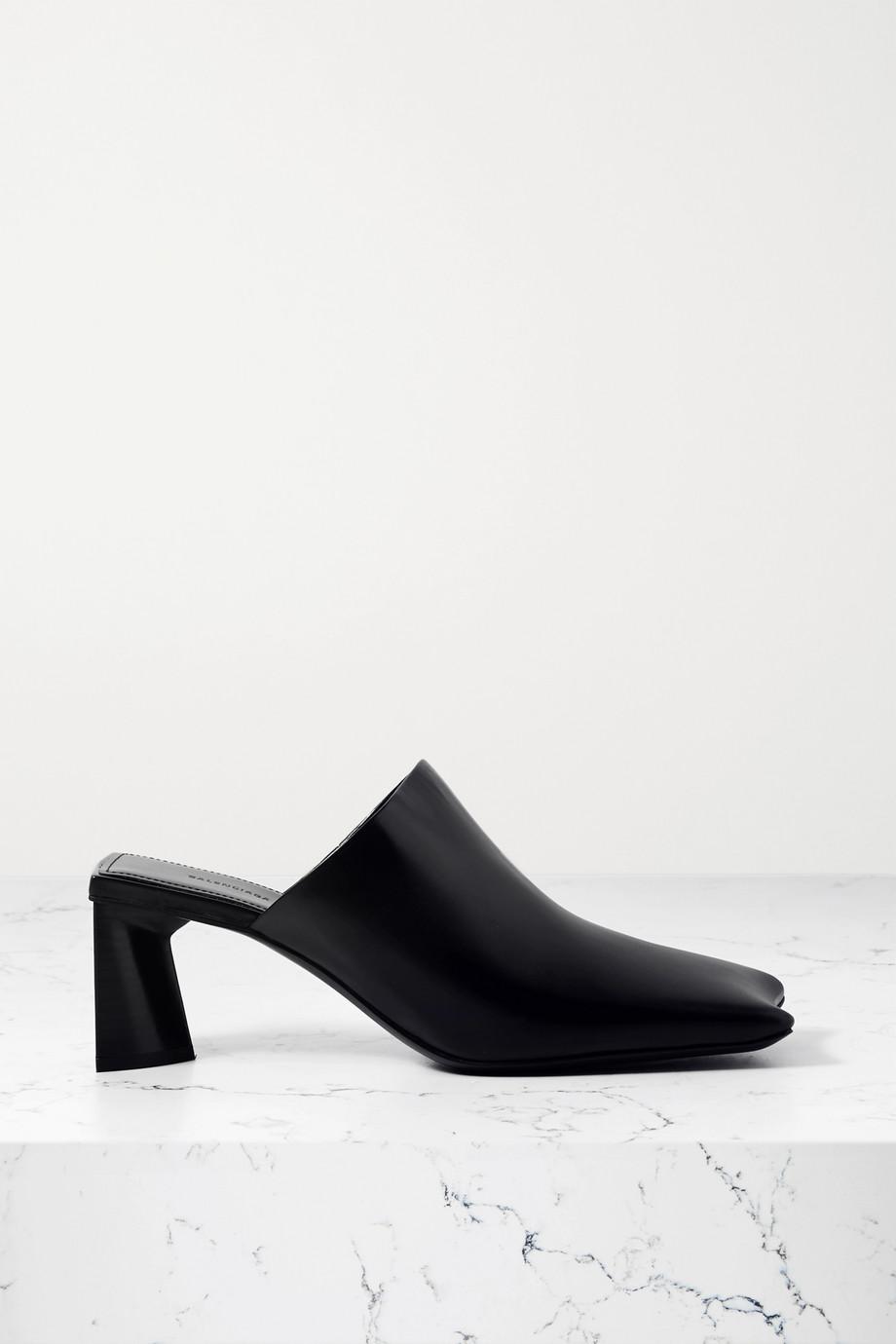 Balenciaga Moon leather mules