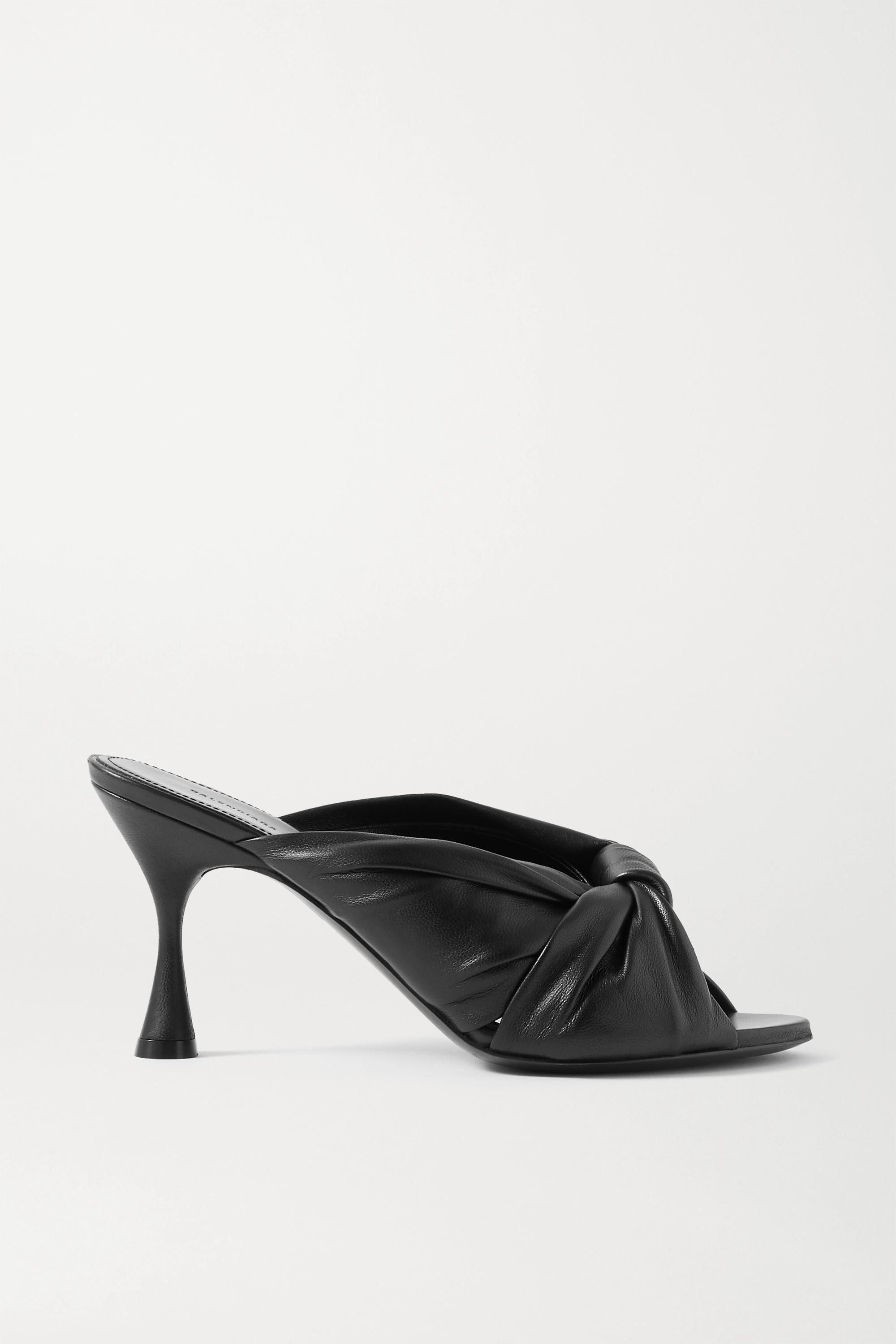 Balenciaga Drapy knotted leather mules