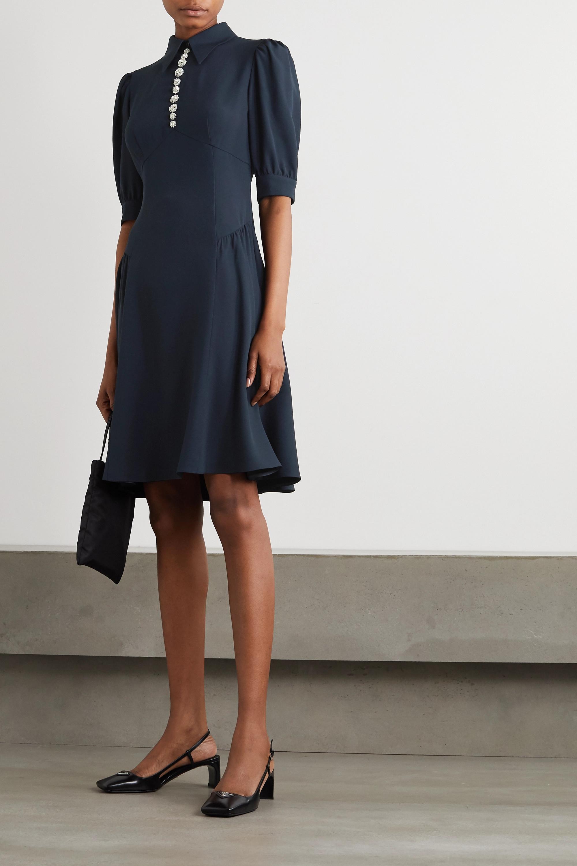 Prada Crystal-embellished crepe dress